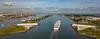 Goodbye (Peet de Rouw) Tags: cruiseship aidaperla passagiersschip nieuwewaterweg stormvloedkering maeslantkering deltawerken holland drone djimavicplatinum hoekvanholland