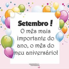 Bom dia para os aniversariantes de Setembro! 🎉🎈🎉🎈🎉🎈 (casamentosetravessuras) Tags: instagram facebookpost lembrancinhas personalizadas