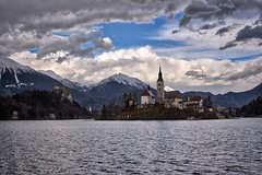 0828 The Church On Bled Island (Hrvoje Simich - gaZZda) Tags: landscape outdoors noperson clouds lake bled slovenia europe nikon nikond750 nikkor283003556 gazzda hrvojesimich