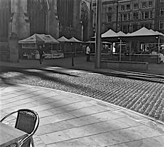 Hull's New Open Market Monochrome (brianarchie65) Tags: kingstonuponhull hull market hullminster flickrunofficial flickr flickruk flickrcentral flickrinternational ukflickr blackandwhite blackandwhitephotos blackandwhitephoto blackandwhitephotography blackwhite123 blackwhiterealms monochrome brianarchie65 geotagged iphonese stalls people sun bluesky