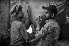 making a delivery (charlesgyoung) Tags: olddelhi d500 delhi rajasthan india charlesyoung nikon nikonphotography nikondx streetphotography blackandwhite