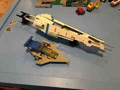 LEGO - SHIPtember 2018 - WIP - much happier with this look. Just have to remake one side as I came up with a better way when I made the second side. Thank you to everyone for the favs and comments. Comments, critiques and suggestions are always welcome. (k9iug) Tags: homeworld lego legospace shiptember2018 legoshiptember