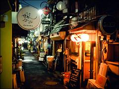 Golden Gai (David Panevin) Tags: 新宿ゴールデン街 goldengai 新宿区 shinjuku 東京 tokyo japan olympus omd em1 lumixg20mmf17iiasph street path alley izakaya bar evening night lights signs posters urbanfragments davidpanevin