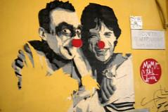Clown Noses (edenpictures) Tags: rome roma italy italia trastevere streetart mickjagger clowns