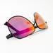 Polarized sunglasses on white background