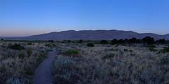 Early Morning Light on Great Sand Dunes NP (Inklaar) Tags: 2018 noordamerika usa inklaar:see=all duinen colorado unitedstates verenigdestaten dunes mosca us ochtend zonsopkomst greatsanddunesnationalparkandpreserve autopanopro fujifilmx100 autostitch panorama