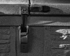 IMGP3515 (agianelo) Tags: hot tub latch shadow plastic web strap monochrome bw bn blackandwhite
