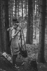 La grande forêt! (MEOT Youri) Tags: portrait face personne people foret forest bw nb contrast contraste wood