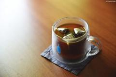 Homemade iced coffee (Iyhon Chiu) Tags: 咖啡 coffee iced metalicecubes bluebottlecoffee mug glass cup homemade 玻璃杯 コーヒー