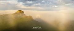 The Lowman's Bow (http://www.richardfoxphotography.com) Tags: fogbow brockenspectre fog foggy mist misty lowmansrock haytor dartmoornationalpark sunrise hillfog temperatureinversion