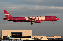 Wow Air A321 TFKID ($and$man) Tags: montreal cyul yul airport airplane aircraft pierre elliot trudeau wow air airbus a321 tfkid landing