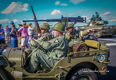Jeep Passes By (tclaud2002) Tags: jeep soldiers machinegun rifle uniform army usarmy reenactment worldwartwo wwii battle helmet troops airshow stuartairshow 2017stuartairshow florida withamfield usa