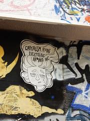 Capitalism ruins everything around me (aestheticsofcrisis) Tags: street art urban intervention streetart urbanart guerillaart graffiti postgraffiti athens athen attiki athina greek greece europe eu exarcheia exarchia pasteup wheatpaste