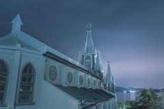 On a cloudy night (tetsuyakatayama) Tags: church nightscape nightview night architecture magomechurch iojima nagasaki japan longexposure