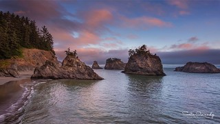 Sunset Colors at the Ocean. (Samuel Boardman SP, Brookings, OR)