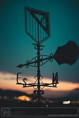 . (Paco Jareño Zafra) Tags: veleta viento marca atletico de madrid cielo sky wind atardecer anochecer caseta campo castalla ibi