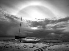Halo at Gott Bay, Tiree (burnthaggis) Tags: halo sun weather tiree hebrides sunhalo gottbay scotland clouds storm iphone kirkapol