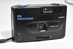 Ansco Pix Panorama (Matthew Paul Argall (Digital/Misc)) Tags: ansco anscopixpanorama camera blackcamera filmcamera retro haking plasticcamera toycamera 1990s