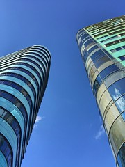 Rounded corners (sander_sloots) Tags: arnhem architecture buildings blue sky skyline skyscrapers towers torens hoogbouw highrise architectuur