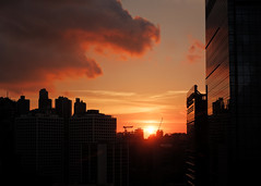"""""""raawr..."""" (hugo poon - one day in my life) Tags: xt100 35mm hongkong central aiacentral landmark dusk sunset colours cloud raawr summer city office architecture skyscrapers skyline sky"""