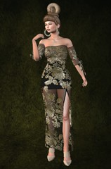 Designer Showcase Part 1 Sep 1 (Treycee Melody) Tags: designershowcase event shopping fashion style hair gown dress makeup nailhuds jewelry necklace secondlife womens