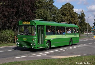 JPF 108K London Country Bus Services Green Line SMA8 AEC Swift with Alexander body at North Weald by Martin Ruthe