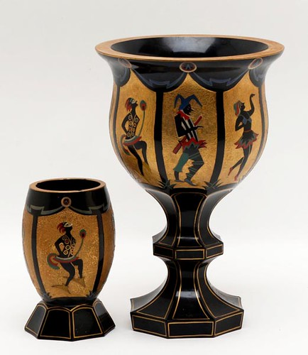 Moser Karlsbad Court Jester compote & tumbler ($336.00)