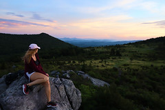 (maknsandwiches) Tags: sarah sky sunset landscape portrait girl model grass hills blue ridge mountains grayson highlands high lands fields pink clouds rocks virginia weaver