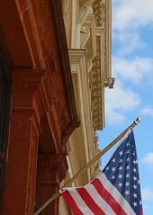 Flag Facade (pics by ben) Tags: iowafalls iowa ellsworth hardin walk northiowa iowariver midwest