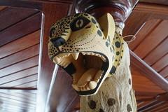 Jaguar Mask (tim ellis) Tags: holiday amazon iracema rionegro diningroom mask jaguar manaus brazil