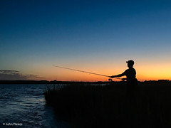 Sunset Surfcaster (John Piekos) Tags: dunegrass silhouette sunset tightlines water iphone catchandrelease fishing edgartown iphone7 surfcasting marthasvineyard