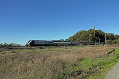 Amtrak, PT. Pinole Reg Park. (Walt Barnes) Tags: passengercar passenger view scenery scene track trackside rail railroad train locomotive dieselelectric engine railcar amtrak caltrans cdtx pinole pointpinoleregpark calif ca pointpinole
