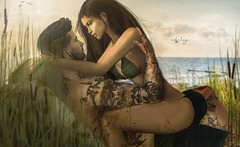 even if i spent the whole day with you. i'll miss you the second you leave . . . (Cataleya.) Tags: happy ocean romance secondlife sl cataleya bikini together avatar digitalpainting virtualworld love couple breeze summer sun dune beach