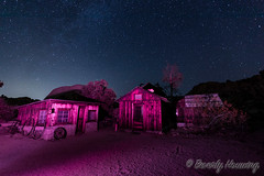042-Keys_Ranch_Night-006 (Beverly Houwing) Tags: keysranch billkeys earlysettlers desert mining barn schoolhouse cabin ranching joshuatreenationalpark desertqueenranch outpost equipment home shed cars cemetery oreprocessing california yuccavalley 29palms night sky stars lightpainting pink