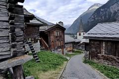 Mountain village (evakatharina12) Tags: wallis valais switzerland randa zermatt nikolaital mattertal alps mountains village timber cottage house church wood