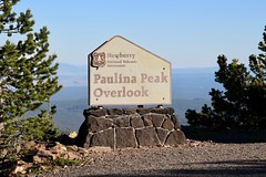 Paulina Peak Overlook sign (daveynin) Tags: caldera newberry nps oregon sign board