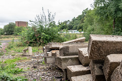 Lots of old sleepers (d0mokun) Tags: dudley england unitedkingdom gb abandoned railway station black country urbex urban exploration beeching axe former old concrete sleepers costain