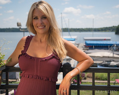 Maria on the Lake I (makleen) Tags: model modeling femalemodel dress reddress blonde blondehair boat yachtclub springfield illinois lakespringfield marialibrisigle naturalbeauty perfection lake