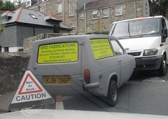 1975 Reliant Robin Van (occama) Tags: kjb136p 1975 reliant robin van old british three wheeler wheel grey