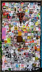 stickers in Amsterdam (wojofoto) Tags: stickers stickerart sticker stickercombo combo streetart amsterdam nederland netherland holland wojofoto wolfgangjosten wojo ndsm bunnybrigade gingergunshot geb
