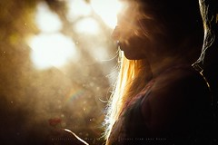 A girl and some pretty evening sun (privizzinis passion photography) Tags: outdoors people girl child children childhood sun light backlight sunflare bokeh profile portrait