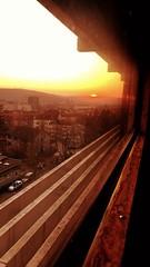 Golden hour (mckingbrrd) Tags: goldenestunde rot sonne himmel germany sky hospital sonnenuntergang sunset goldenhour