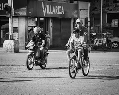 Biking (Beegee49) Tags: street bicycle motorcycle motor man boy two up bacolod city philippines