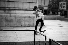 Skate Away (Thilo Gellert) Tags: bnw outside summer city lisbon lissabon lisboa skating street monument bw blackandwhite fly fun nikon stunt movement moment stone
