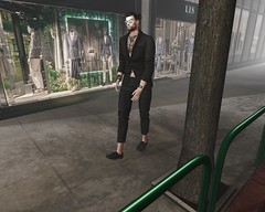 Shopping (JohnnyWalker29 Resident) Tags: secondlife second life shopping fashion elegant style passion walk walking city people resident casual male store tattoo apparel gaeg signature gild redgrave swallow doux belleza slink adam aesthetic mesh body bento