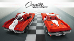 Corvette Sting-Ray (Veeborg) Tags: legofoitsop chevrolet chevy corvette stingray muscle car vehicle motor engine sport vintage old timer