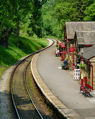 309_Haworth_08 (andreavarju) Tags: england haworth may2018 railroad tracks trainstation uk yorkshire