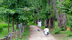 In A Relationship (grass-lifeisgood) Tags: canon eos 6d ef 100mm f28l people portrait environment landscape korea namisum island romantic fila boy girl relationship love