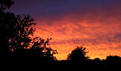 Himmlisches Theater des Westens (niedersachsenfoto) Tags: himmel abendhimmel wolken sonnenuntergang oldenburg niedersachsenfoto