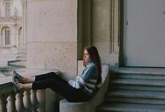 Cathel. (Nicolas Fourny photographie) Tags: canon eos100 analogcamera model beauty portrait louvre paris naturallight winterlight redhair redhead beautifulgirl beautifulwoman portraiture womanportrait girlportrait 50mm 35mm film filmisnotdead kodak portra400
